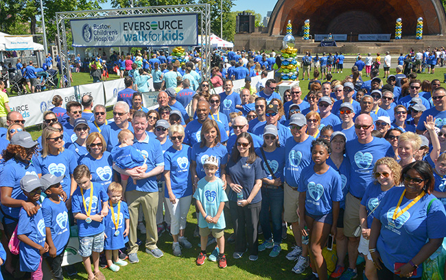 Eversource employees and their families at the Eversource Walk for Boston Children's Hospital.