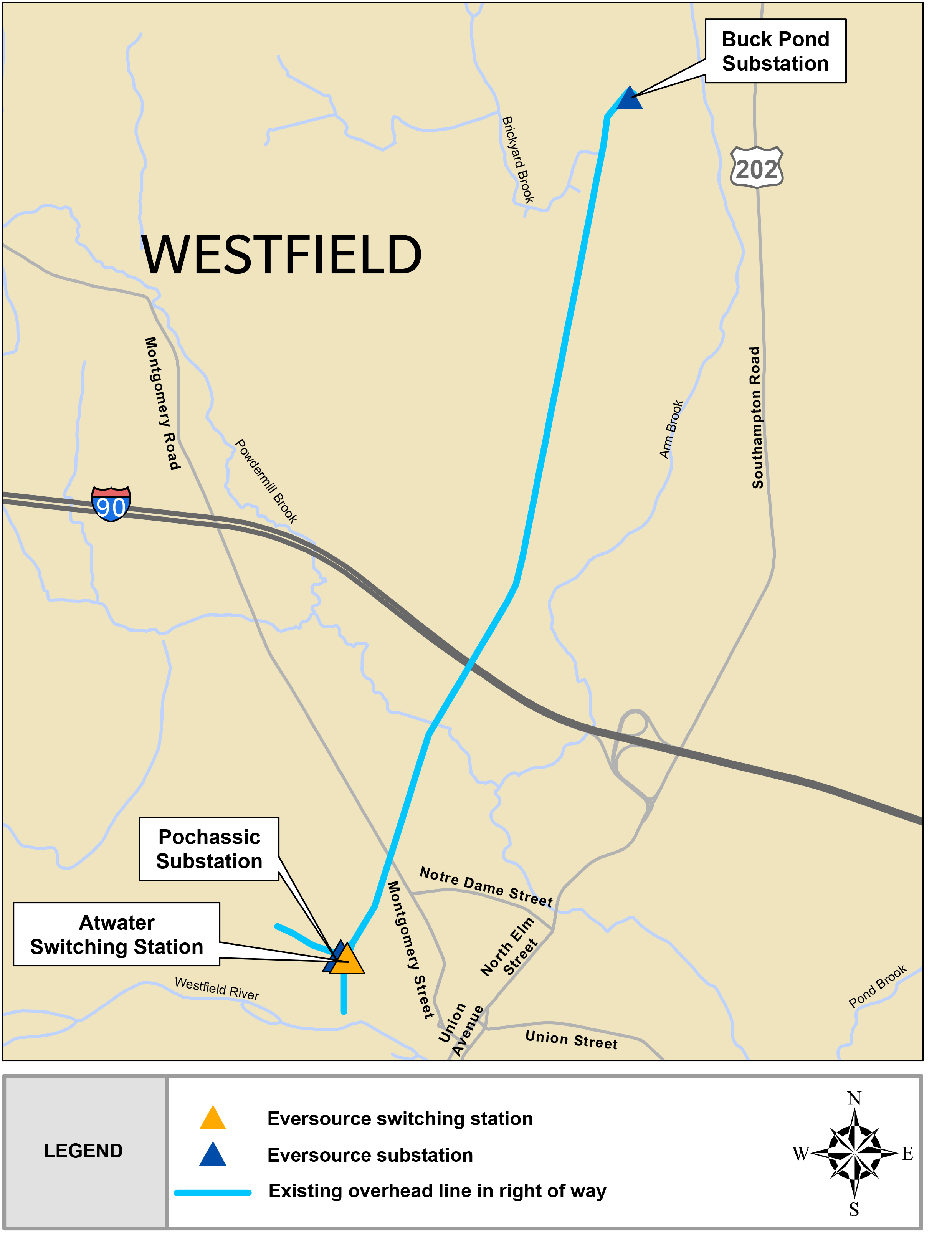 Westfield Project Map