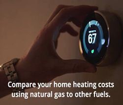 Compare your home heating costs using natural gas to other fuels.