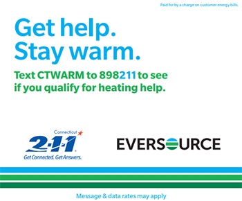 Text CTWARM to 898211 to see if you qualify for help.